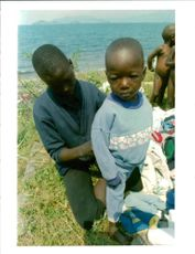 The Rwandan War:Unaccompanied rwandan refugees child.