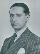Portrait of Italian politician Egidio Tosato.