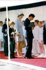 Prinsessan Diana och prins Charles deltog i Victory in Europe Day-ceremonin i Hyde Park