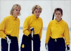 Katarina Nyberg, Elisabet Gustafsson and Louise Marmont were worried after the semi-final loss against Denmark.