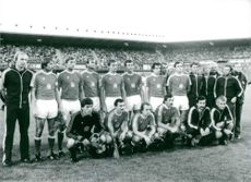Group Photograph of Czech National Football Team.