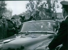 General Grivas meeting with people.   1959
