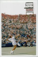 Stefan Edberg plays at his last US Open