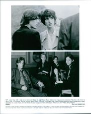 """Winona Ryder and Winona Ryder in a scene of the movie """"Boys"""" Christopher Pettiet, Wiley Wiggins and Lukas Haas i another scene of the movie."""