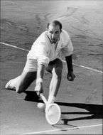 Bob Hewitt in action during the match against Josefsson