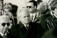 President Slobodan Milosevic at funeral