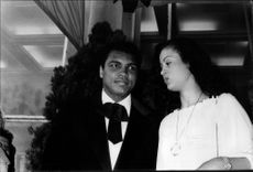Muhammad Ali together with his wife Veronica at the 31st Cannes Film Festival.