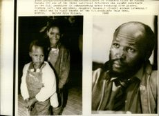 Murphy Morobe and his children, daughter Macawe, and son Lebehang.