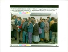 Yugoslavia Refugees from jajce wait in line to receive a bread in travnik thursday.