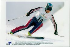 Lasse Kjus, Norway, took home the silver medal in the alpine combination. Mario Reitner; Austria, took gold and Christian Mayer, Austria, took bronze.