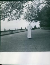 Pope Pius XII walking.