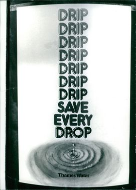 Water picture with save water message.