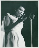 Eartha Kitt on stage