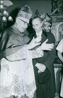 Prince Xavier of Bourbon-Parma at the church, 1962.