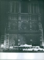 A partial view of Notre-Dame. 1962.