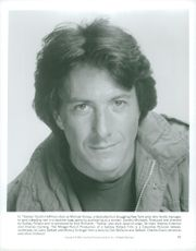 """Portrait image of Dustin Hoffman who plays the lead role as Michael Dorsey / Dorothy Michaels in Sydney Pollak's """"Tootsie""""."""