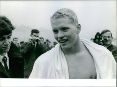 Don Schollander interview after a swim