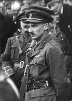 Field Marshal Bernard Law Montgomery, standing in a uniform.