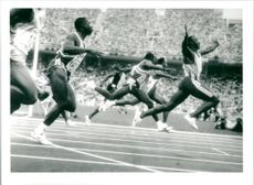OS 1992. Linford Christie wins the 100m final