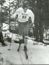Bjarne Andersson on skis for IFK Mora