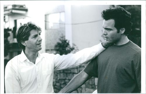 Peter Coyote and Vincent D'Onofrio in a scene from a 1991 American drama film,