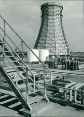 Shell refinery cooling tower