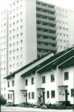 Skyscrapers and terraced houses