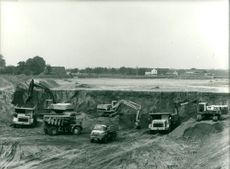 Motorway construction site