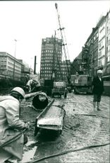 Heinrich-Heine-Allee subway construction